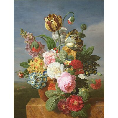 Image of Bouquet of Flowers in A Vase by Jan Frans Van Dael Art Print