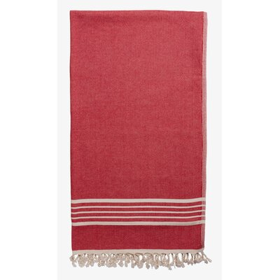 Terry Lined Spa Towel Color: Red