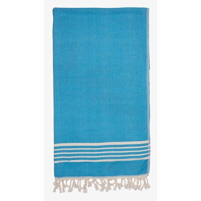 Terry Lined Spa Towel Color: Turquoise