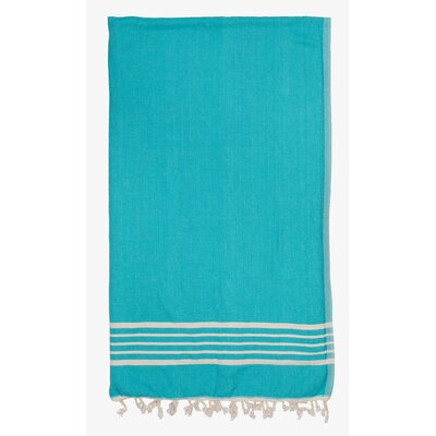 Terry Lined Spa Towel Color: Aqua
