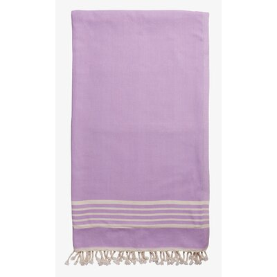 Terry Lined Spa Towel Color: Lavender