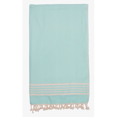 Terry Lined Spa Towel Color: Mint Green