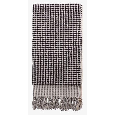 Turkish Luxurious Cotton Bath Sheet Color: Black/White