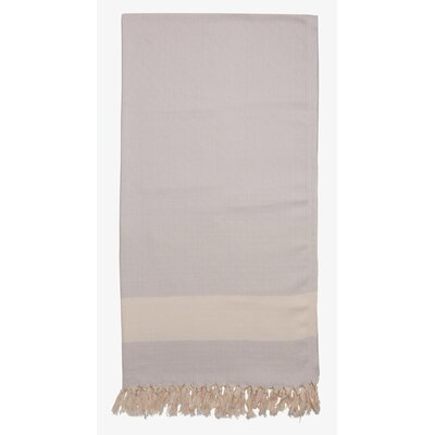 Turkish Cotton Diamond Throw Color: Silver Gray