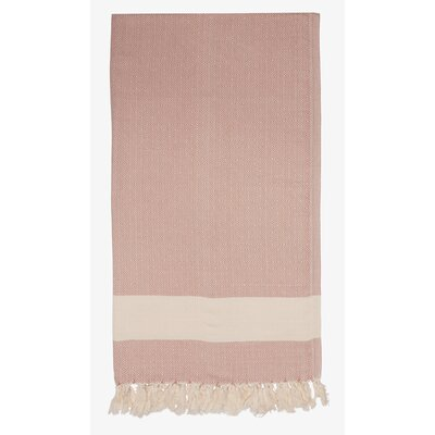 Turkish Cotton Diamond Throw Color: Beige