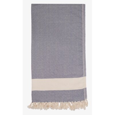 Turkish Cotton Diamond Throw Color: Dark Blue