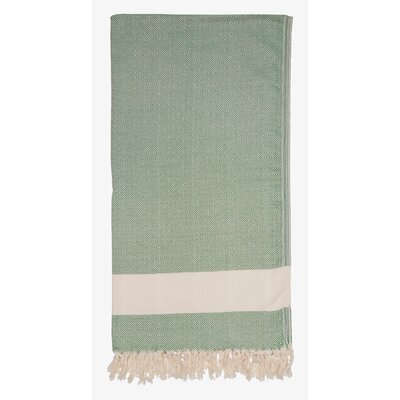 Turkish Cotton Diamond Throw Color: Dark Green