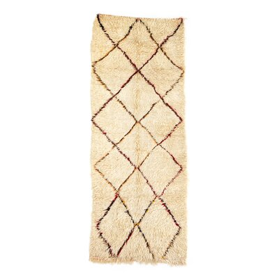 Azilal Hand-Woven Ivory Area Rug