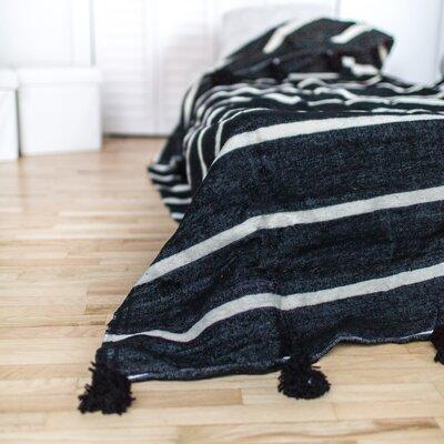 Pom Pom Wool Blanket Size: 59 H x 59 W