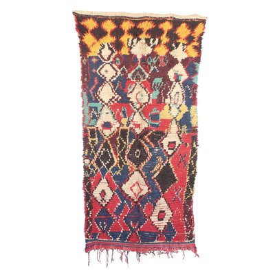 Azilal Hand-Woven Wool Red/Yellow Area Rug