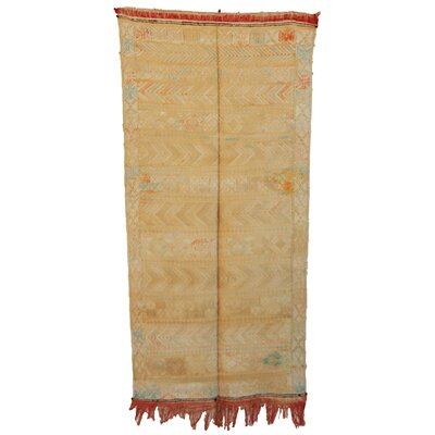 Moroccan Hand Woven Silk Beige/Orange Area Rug