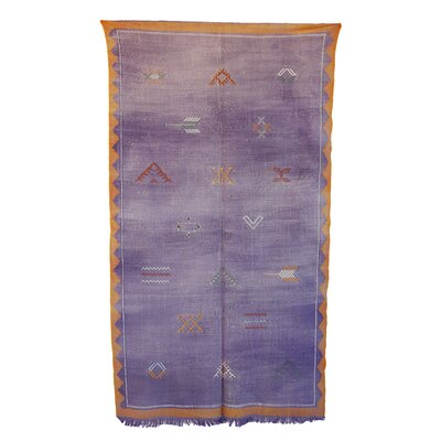 Moroccan Hand Woven Silk Purple/Gold Area Rug