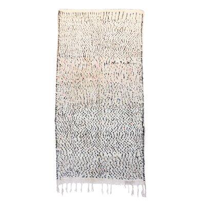 Azilal Moroccan Berber Hand-Woven Wool Beige/Black Area Rug