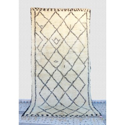 Beni Ourain Moroccan Berber Hand-Knotted Wool Ivory Area Rug