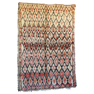 Beni Ourain Moroccan Hand Knotted Wool Ivory Area Rug