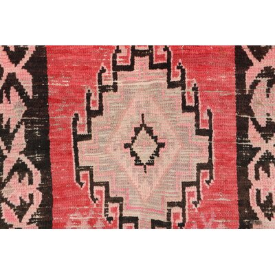 Moroccan Vintage Boujad Hand Knotted Wool Pink/Red Area Rug