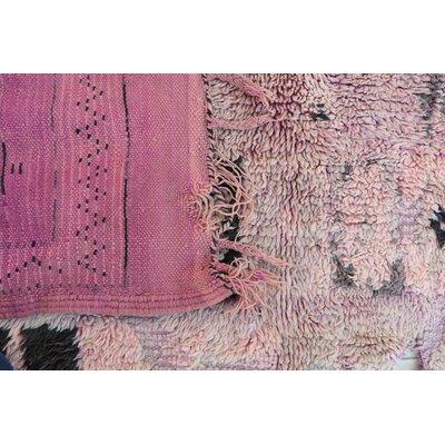Moroccan Hand Woven Wool Beige Area Rug