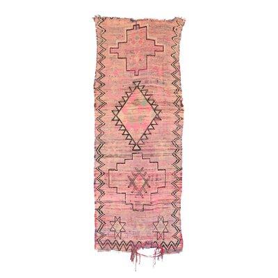 Moroccan Hand Woven Wool Pink/Beige Area Rug