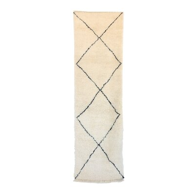 Beni Ourain Moroccan Hand Knotted Wool Cream/White Area Rug