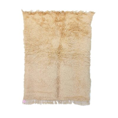 Beni Ourain Moroccan Hand Knotted Wool Cream Area Rug