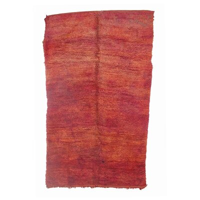 Beni MGuild Vintage Moroccan Hand Knotted Wool Orange/Red Area Rug