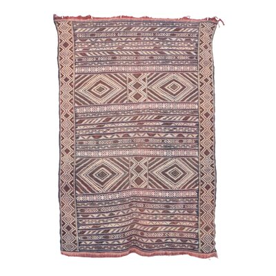 Aknif Moroccan Hand Knotted Wool Gray/Brown Area Rug