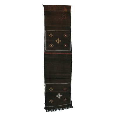 Kilim Moroccan Cactus Silk Hand Knotted Wool Brown Area Rug
