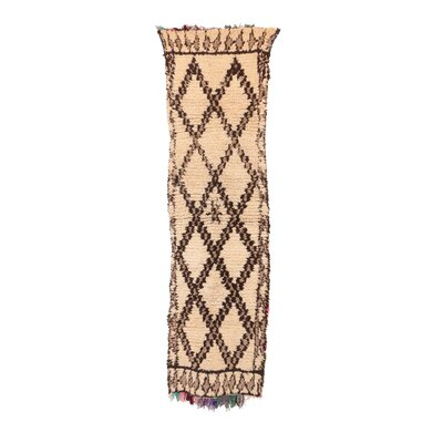 Azilal Vintage Moroccan Hand Woven Wool Brown Area Rug