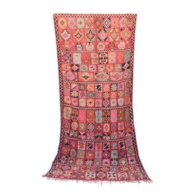 Boujad Vintage Moroccan Hand Woven Wool Orange Area Rug