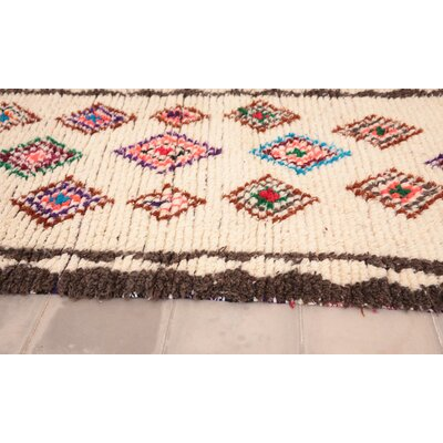 Azilal Vintage Moroccan Hand-Knotted Wool Brown Area Rug