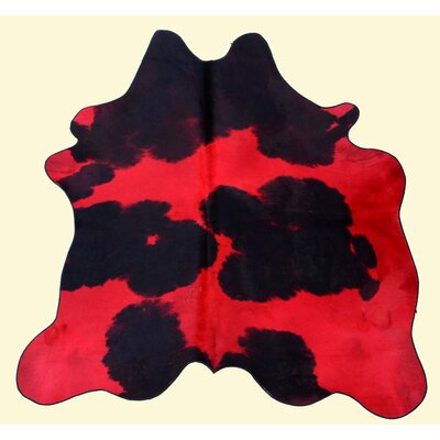 Dairy Red and Black Area Rug
