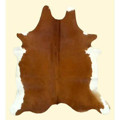 Dark Caramel and White Area Rug Rug Size: 72 x 76