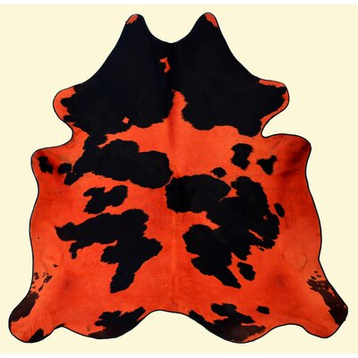 Dairy Orange and Black Area Rug
