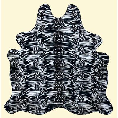 Bilboa Micro Zebra Cowhide Black Area Rug