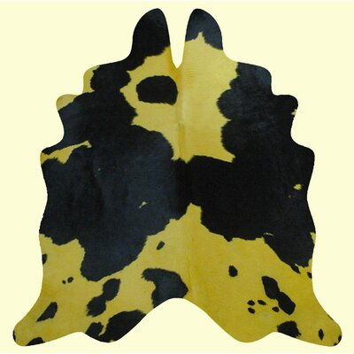 Dairy Yellow/Black Area Rug