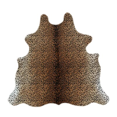 Biloxi Cheetah Cowhide Brown Area Rug