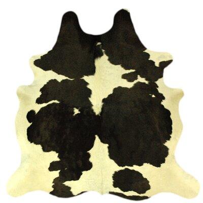 Dairy Handmade Black/White Area Rug
