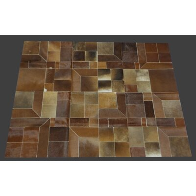 Fabian Handmade Cowhide Dark Natural Indoor Area Rug