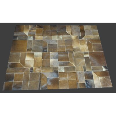 Fabian Handmade Cowhide Dark Natural Area Rug