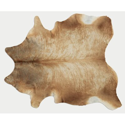 Natural Cowhide Champagne Area Rug