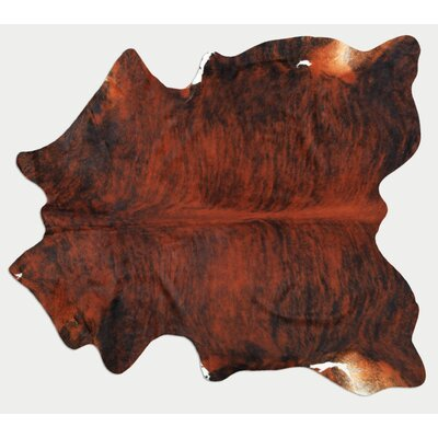 Natural Exotic Cowhide Dark Brown Area Rug
