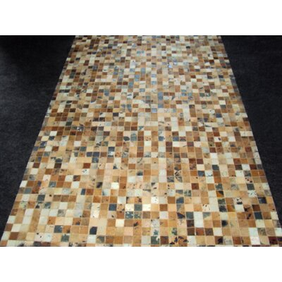 Patchwork Golden Garnet Rug Rug Size: Rectangle 5 x 8