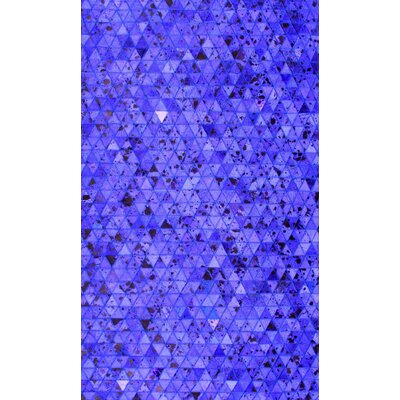 Patchwork Geo Blue Area Rug Rug Size: Square 4
