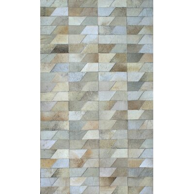 Patchwork Geo Faded Gray Area Rug Rug Size: 6 x 9