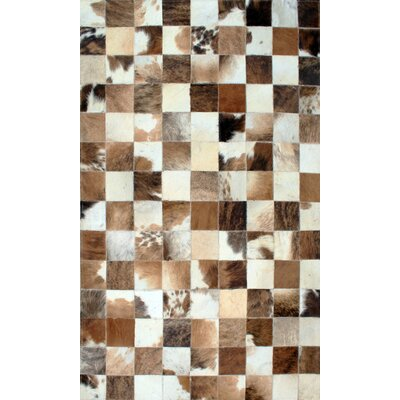 Patchwork Static II Brown Area Rug Rug Size: Square 4