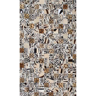 Patchwork Animal Print Multi-colored Area Rug Rug Size: Square 4'