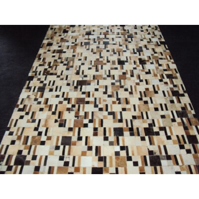 Patchwork Disruption Neutral Area Rug Rug Size: 5 x 7