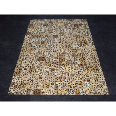Patchwork Print Cheetah Area Rug Rug Size: Rectangle 4 x 6