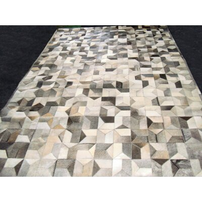 Patchwork Multi Geo Gray Area Rug Rug Size: Rectangle 6 x 9