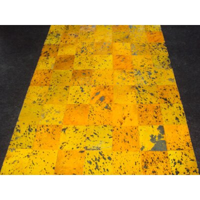 Patchwork Yellow Citrine Area Rug Rug Size: Square 4'